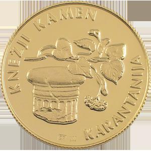 Knežji kamen - zlatnik, teža 7g, čistina 900/1000