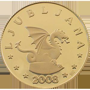 EU Ljubljana - zlatnik, teža 7g, čistina 900/1000