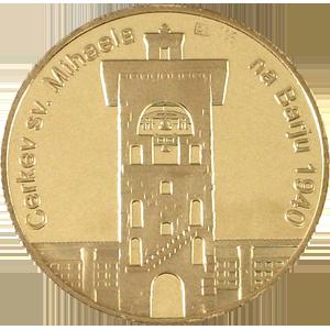 Jože Plečnik - zlatnik, teža 7g, čistina 900/1000