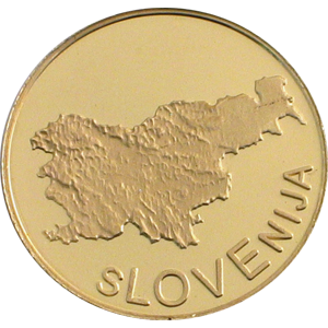 Ljubljana Slovenija - zlatnik, teža 5g, čistina 900/1000