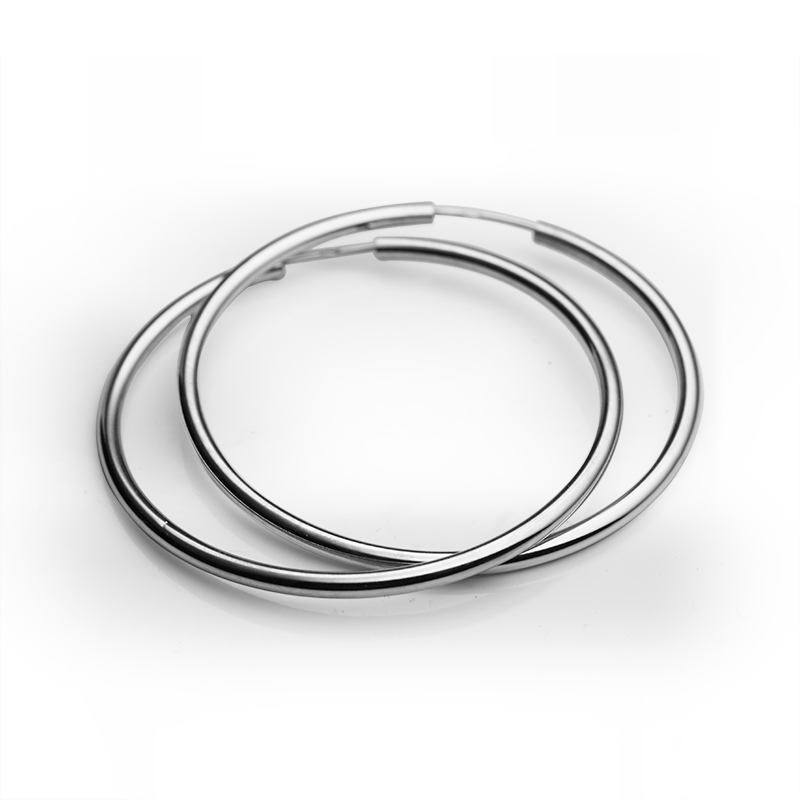 Earringsilver925/000rhodium platedfi 55 mm