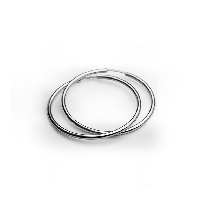 Earringsilver925/000rhodium platedfi 37 mm
