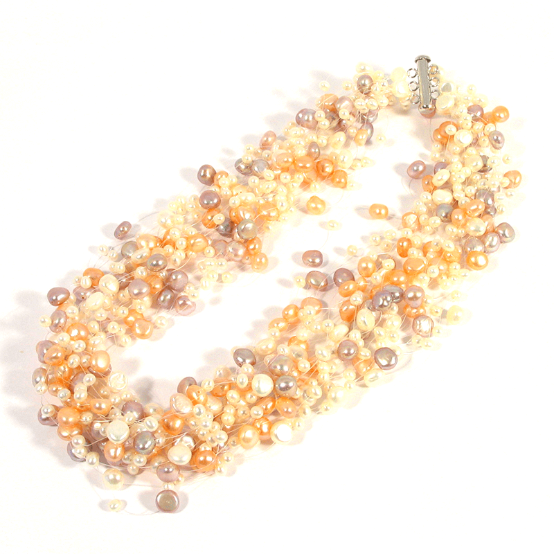 multicolour pearl necklace