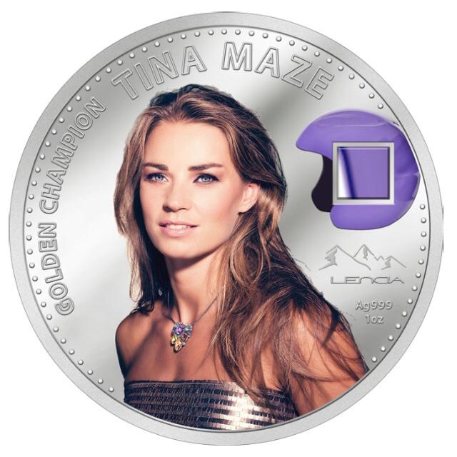 Srebrni spominski kovanec Tina Maze.