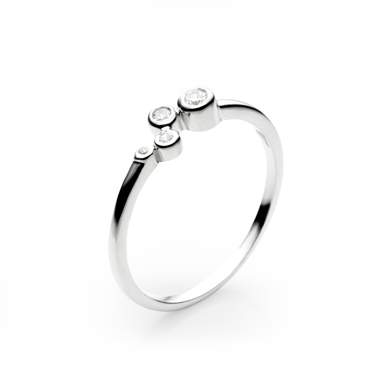 RingSilver 925/000Rhodium platedCz