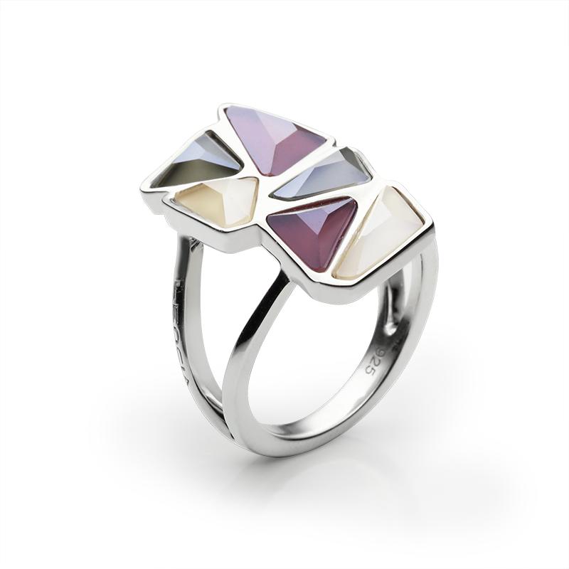 RingSilver 925/000Rhodium platedSwarovski crystal