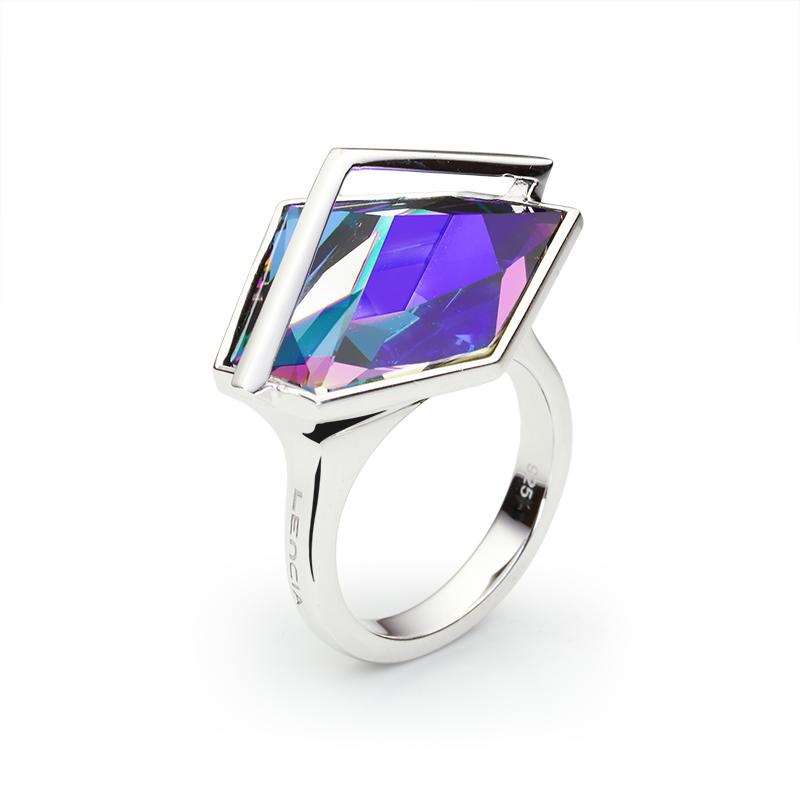 PrstenSrebro 925/000RodiniranoSwarovski kristal fi 19 mm - 1 x