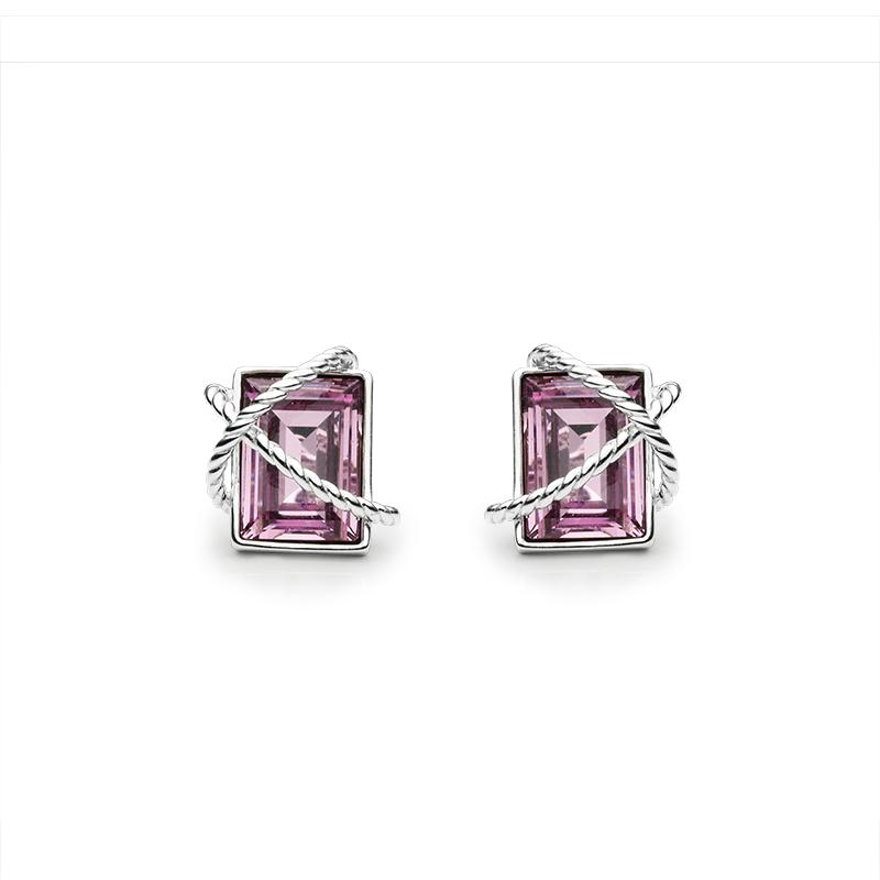 EarringsSilver 925/000Rhodium platedSwarovski crystal