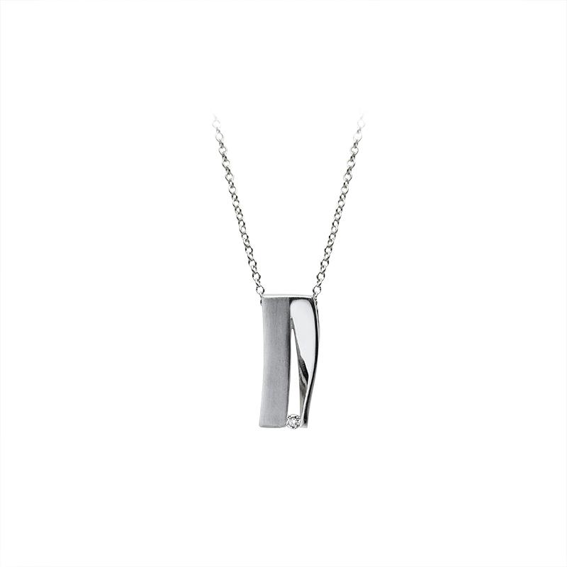 NecklaceSilver 925/000Rhodium platedCz