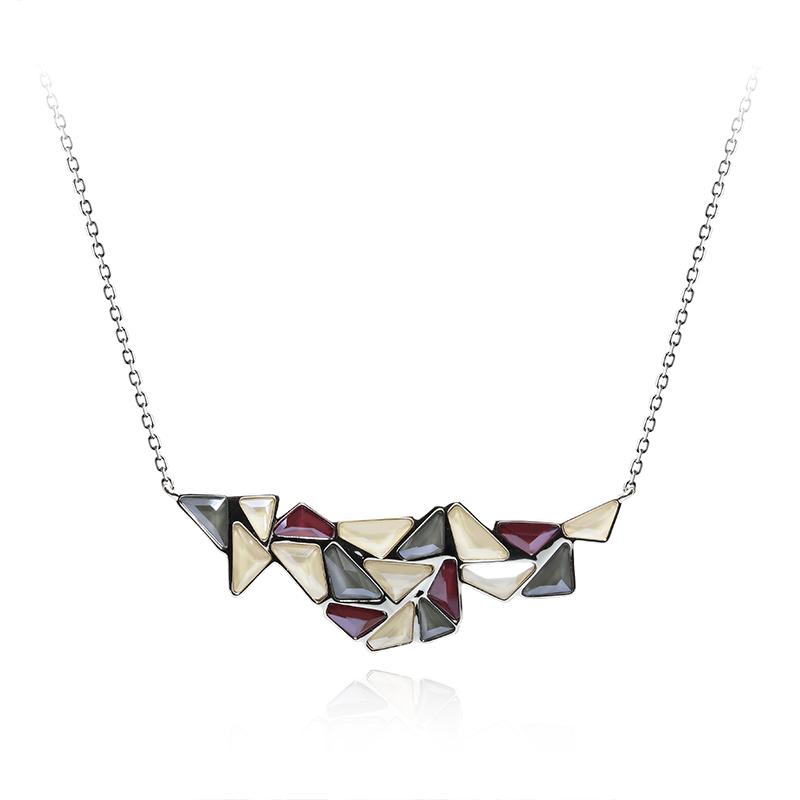OgrlicaSrebro 925/000RodiniranoSwarovski kristal