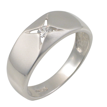 Ringsilver 925/000 rhodium platedCZ white 3,0 mm -1 x