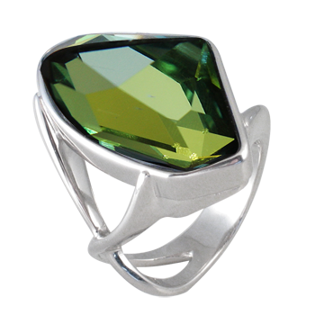 Prstensrebro 925/000rodiniranokristal sahara 27 x 16 mm - 1 x