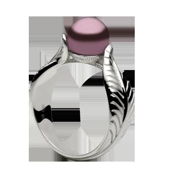 Prstensrebro 925/000rodiniranoSwarovski biser fi 8 mm