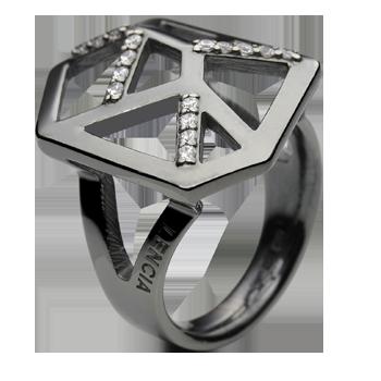 Prsten srebro 925/000 rodinirano CZ 1,50 mm - 16x