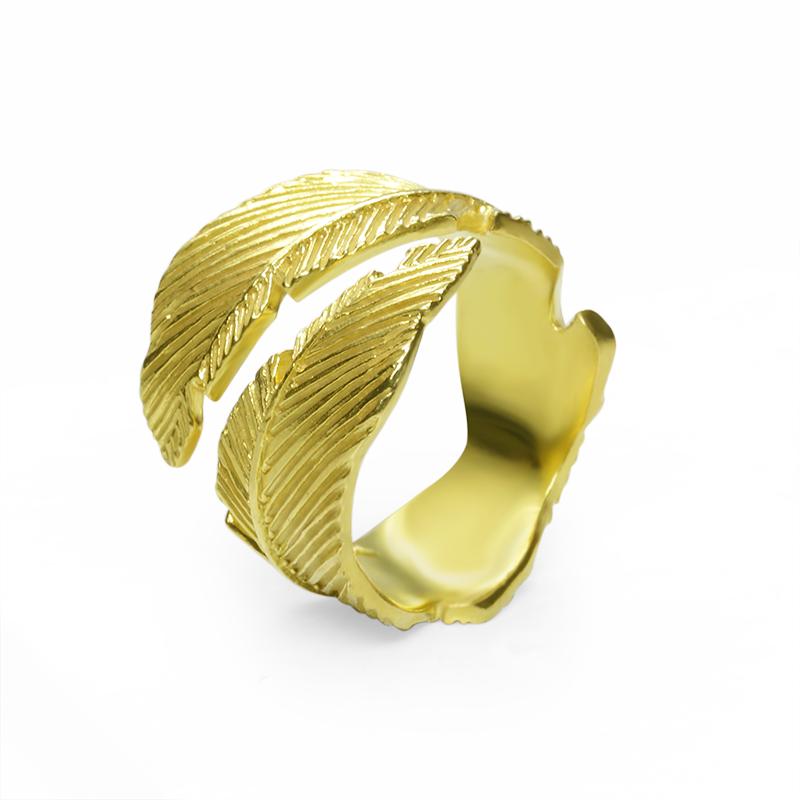 RingSilver 925/000Yellow gold plating