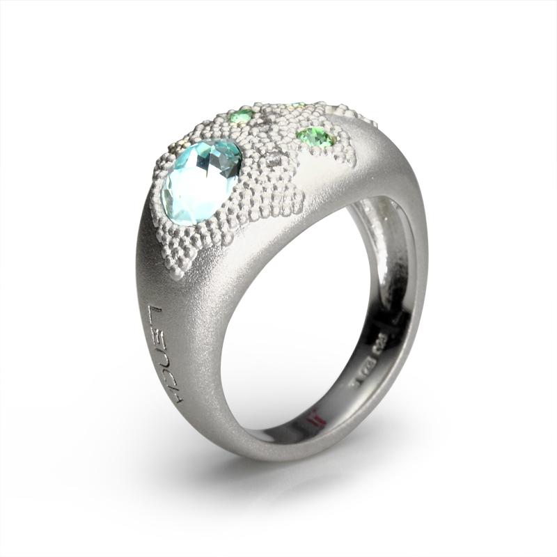Prstensrebro 925/000rodiniranoSwarovski kristal