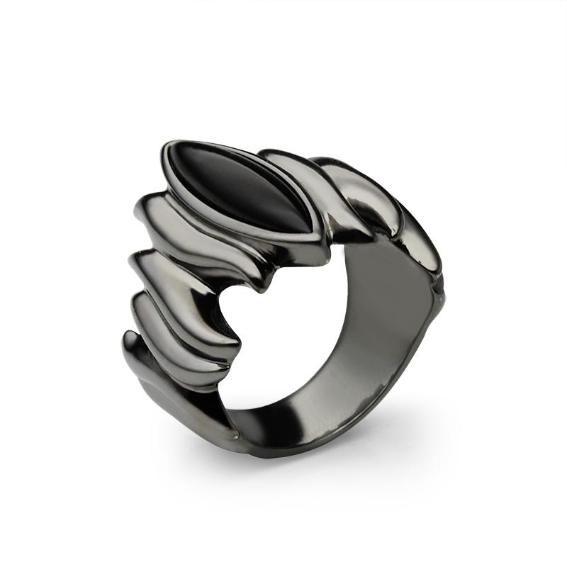 Prstensrebro 925/000crno rodiniranooniks 20x5 mm - 1x