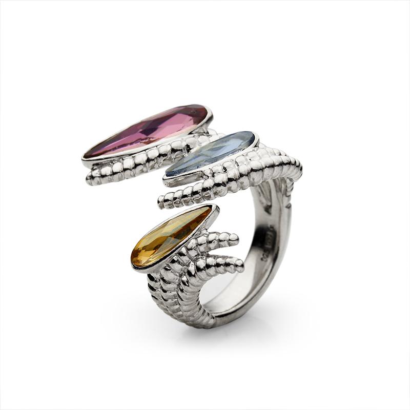 RingSilver 925|000RodiniranoSwarovski kristal