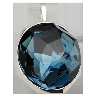 Obeseksrebro 925/000rodiniranoSwarovski kristal 30x26 mm