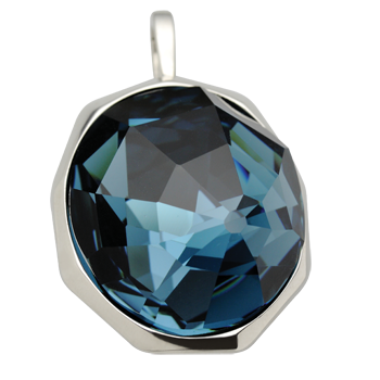 Pendantsilver 925/000 rhodium platedSwarovski crystal 30x26 mm