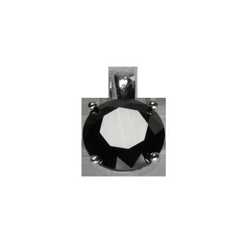Privezaksrebro 925/000rodiniranoCrni Swarovski CZ fi 8 mm