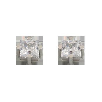 Uhanisrebro 925/000rodiniranoCZ bel 6x6 - 2x