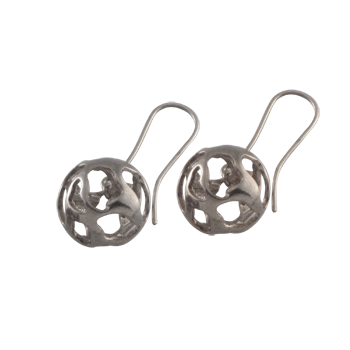 Earringsilver925/000rhodium plated
