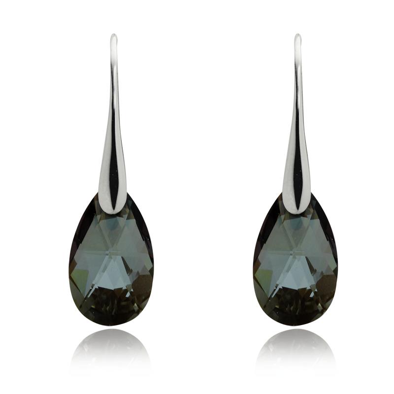 Earringsilver 925/000 rhodium platedSwarovski crystal