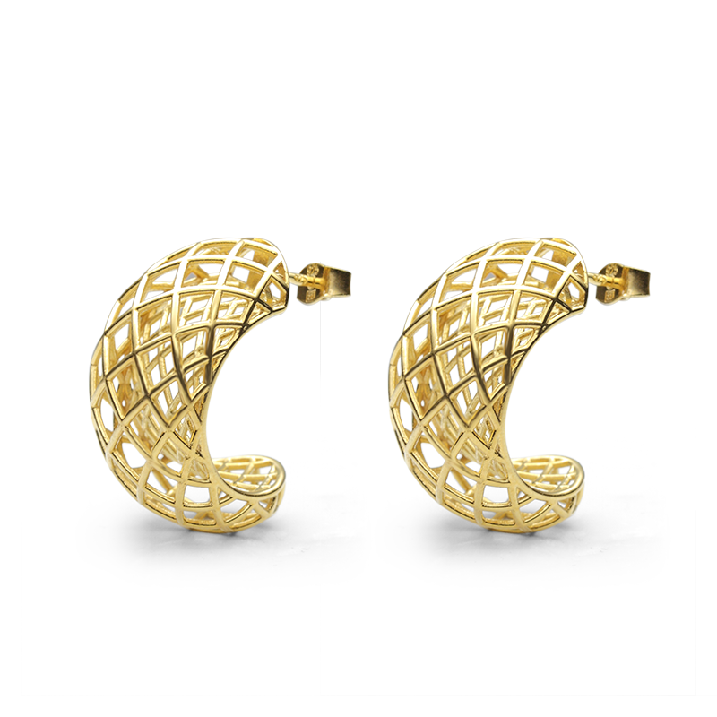 Earringsilver 925/000 gold rhodium plated