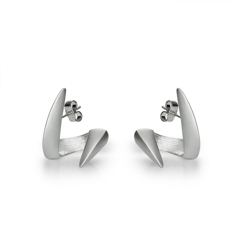 Earringsilver 925/000 rhodium plated