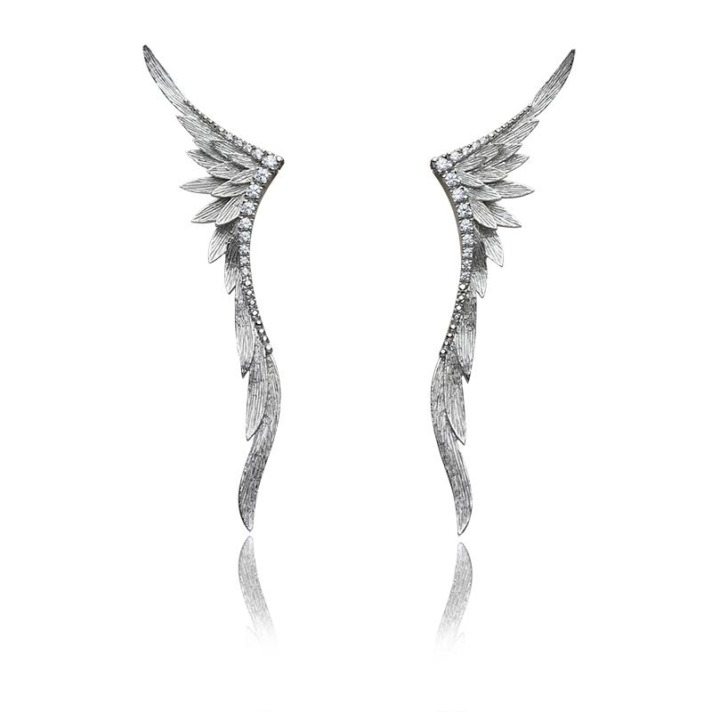 EarringsSilver 925/000Rhodium platedCZ - 28 x