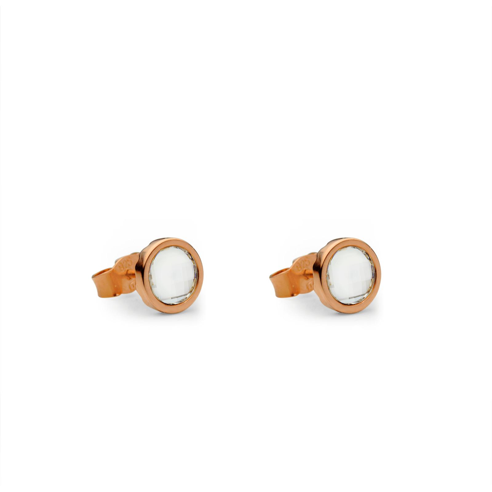EarringsSilver 925/000Rhodium platedSwarovski crystal fi 6 mm - 2 x