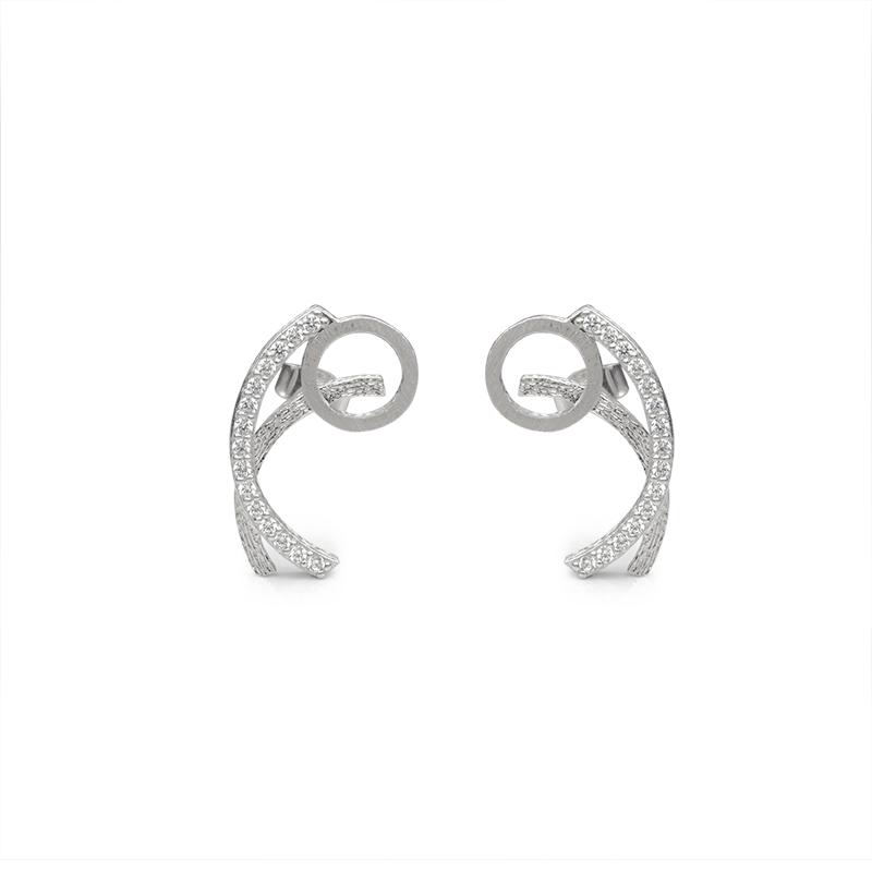 EarringsSilver 925/000Rhodium platedCZ fi 1,5 mm - 30 x