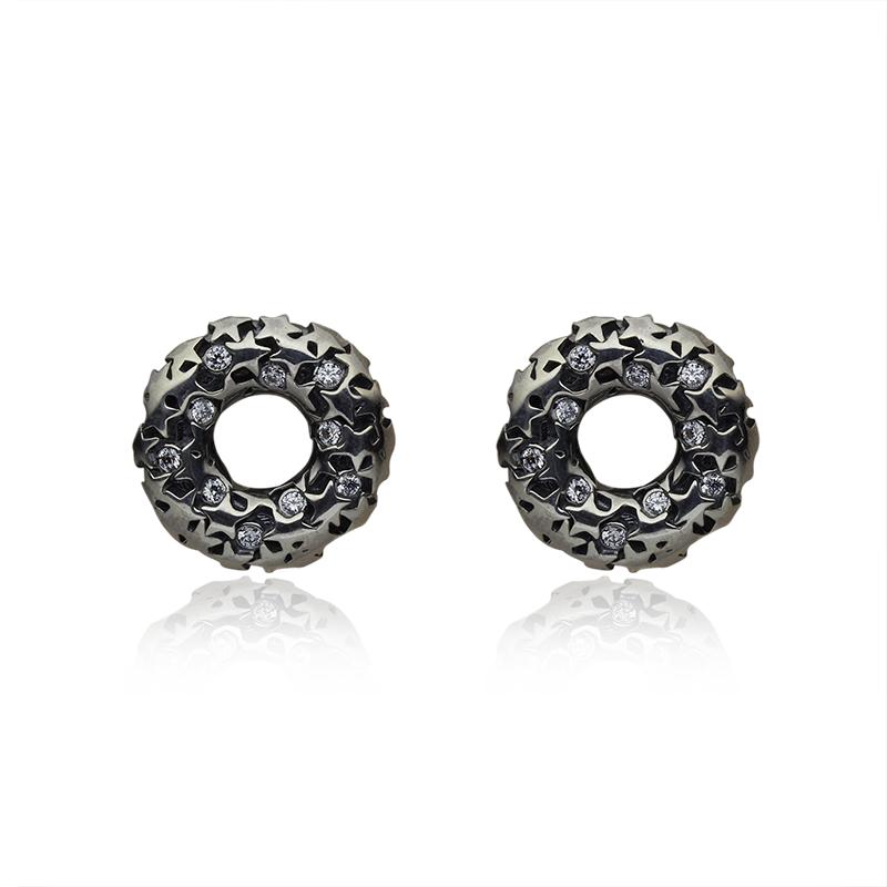 EarringsSilver 925|000Black rhodium platedCZ