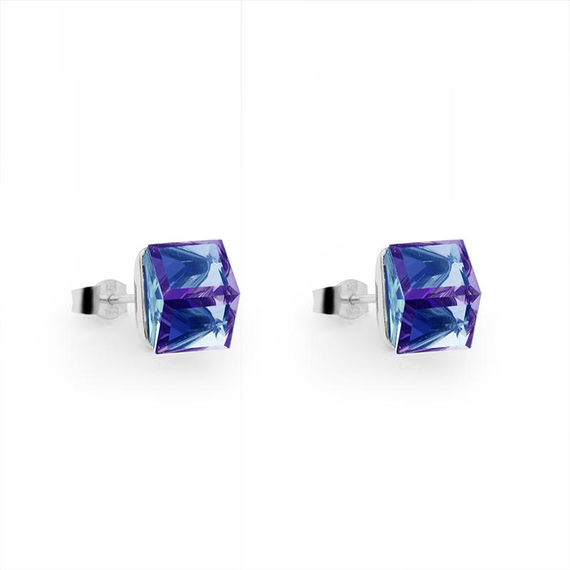 EarringsSilver 925/000Rhodium platedSwarovski crystal fi 8 mm - 2 x