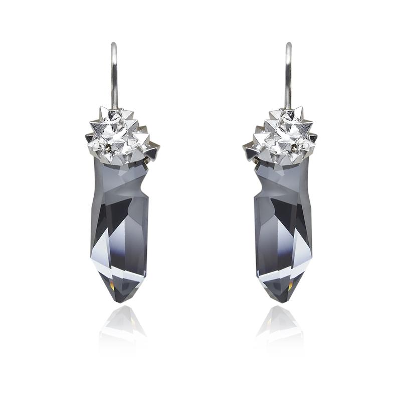EarringsSilver 925/000Rhodium platedSwarovski crystal fi 28 mm - 2 x