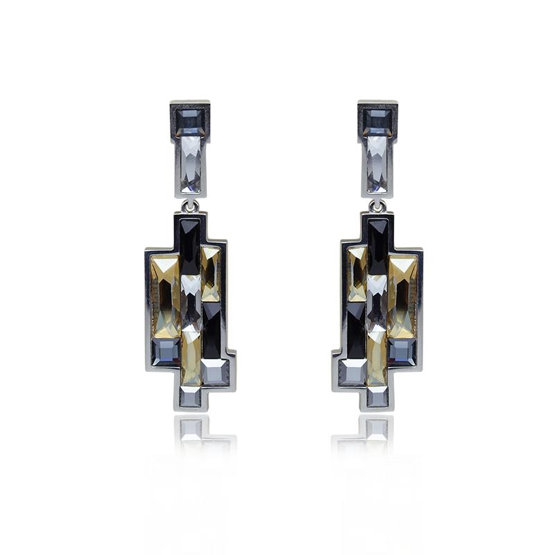 EarringsSilver 925/000Rhodium platedSwarovski crystal - 22 x