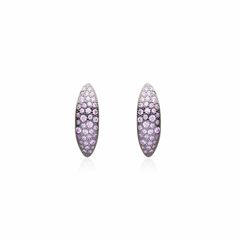 EarringsSilver 925/000Black rhodium platedCz