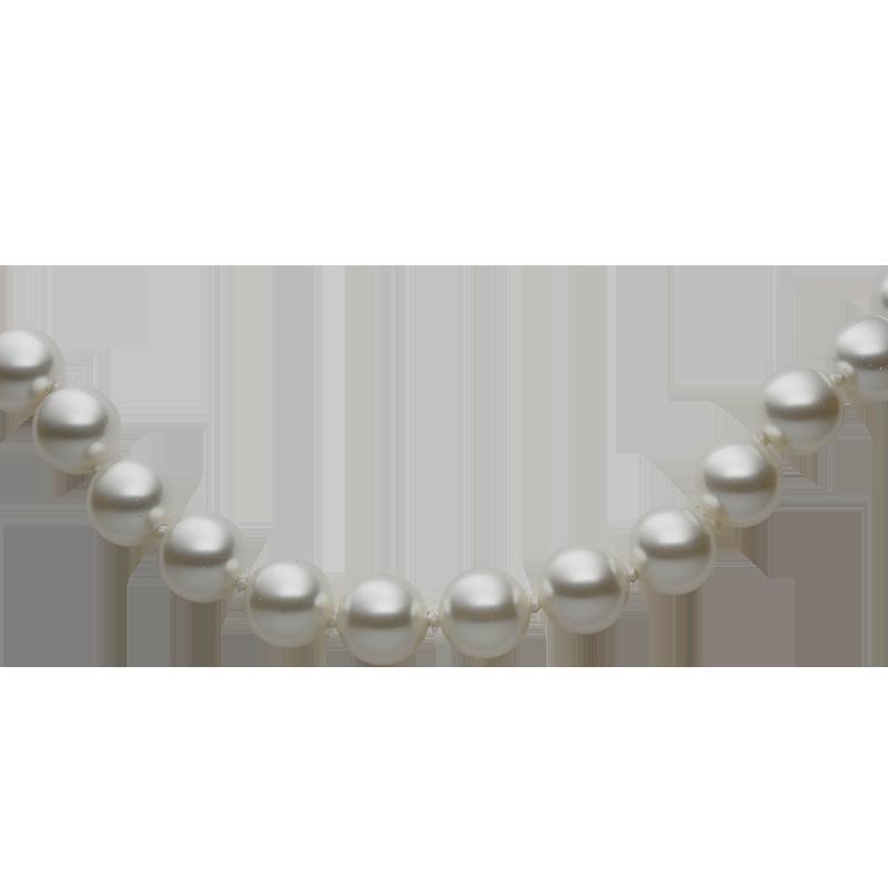 Zapestnicasrebro 925/000rodiniranoSwarovski beli biseri fi 8 mm