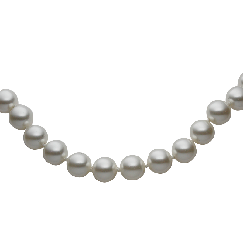 Braceletsilver 925/000rhodium platedWhite Swarovski glass pearls fi 8mm