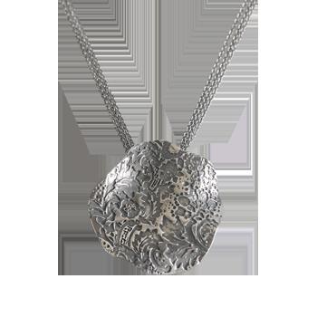 Ogrlicasrebro 925/000črno rodinirano