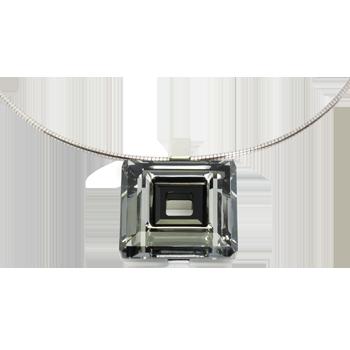 Ogrlicasrebro 925/000rodiniranoSwarovski kristal dorado 30 mm