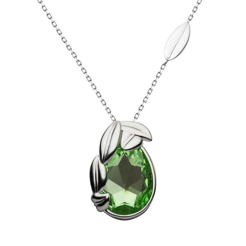 Necklace silver 925/000 rhodium platedSwarovski crystal 30x20 mm