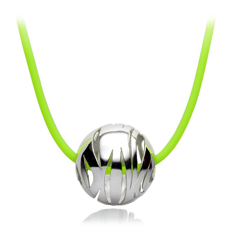 Ovratnica srebro 925/000rodinirano