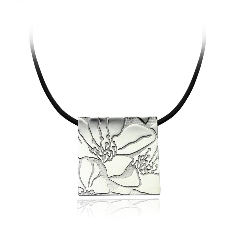 Ogrlica srebro 925/000rodinirano