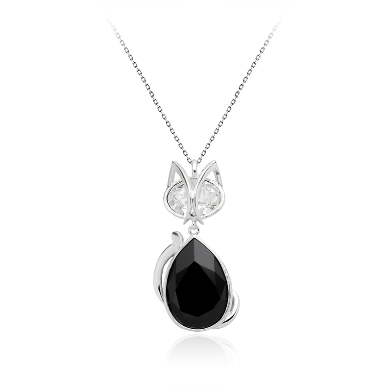 Ogrlica srebro 925/000rodiniranoSwarovski kristal 30x20 - 1x; 18x13 -1x