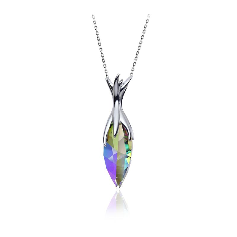 NecklaceSilver 925/000Rhodium platedSwarovski crystal