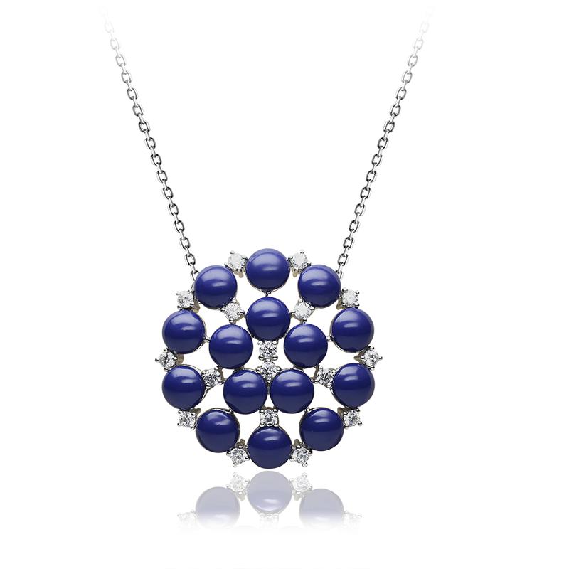 NecklaceSilver 925/000Rhodium platedGlass pearl, CZ