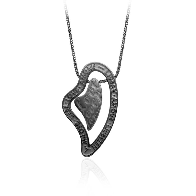 NecklaceSilver 925/000Black rhodium plated