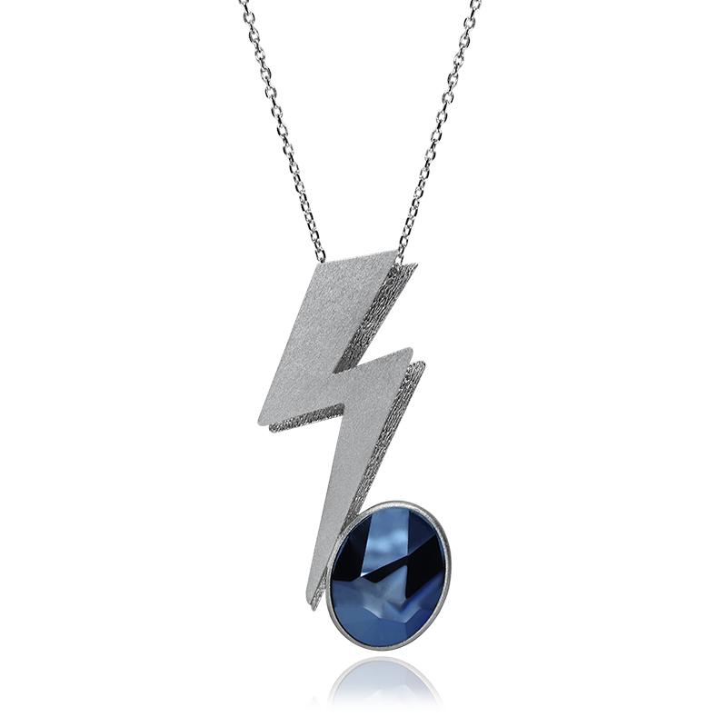OgrlicaSrebro 925|000RodiniranoSwarovski kristal